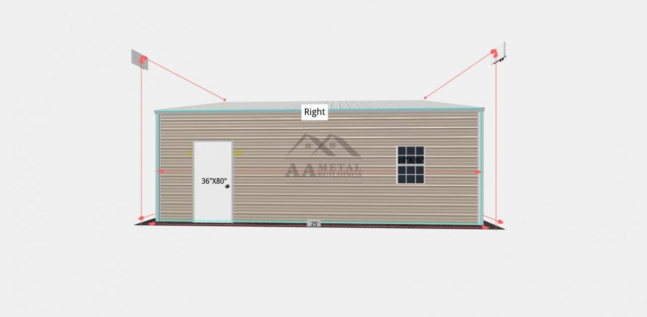28x25 Metal Garage Building