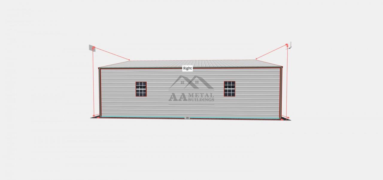 28x35 Steel Garage Building
