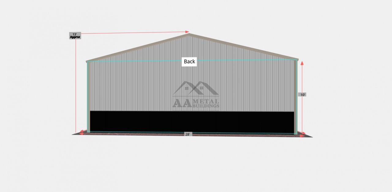 28x40 Side Entry Steel Garage