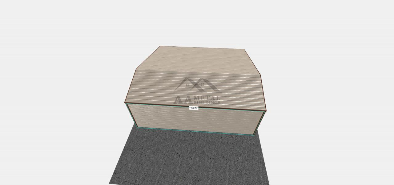 30x30 Boxed Eave Garage With Lean-to
