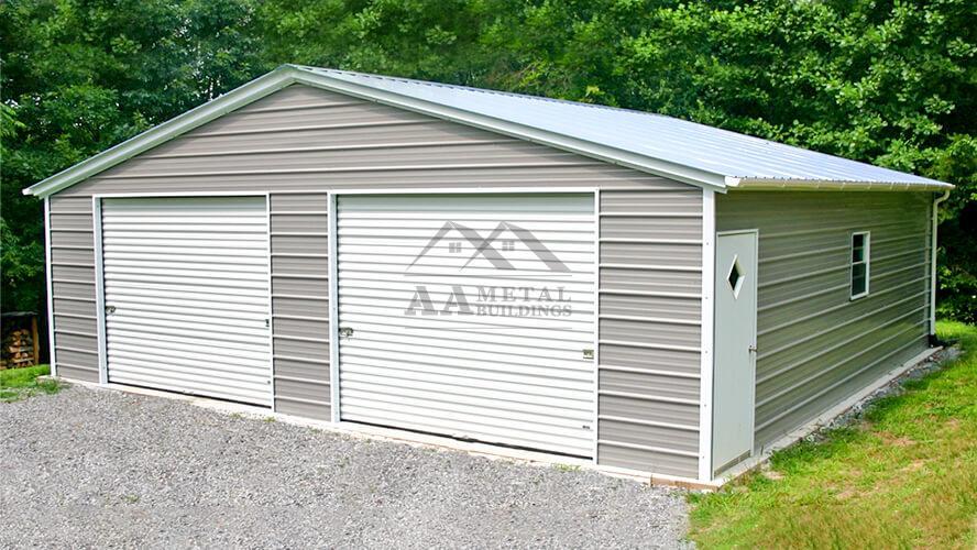 30x30 Two Car Metal Garage