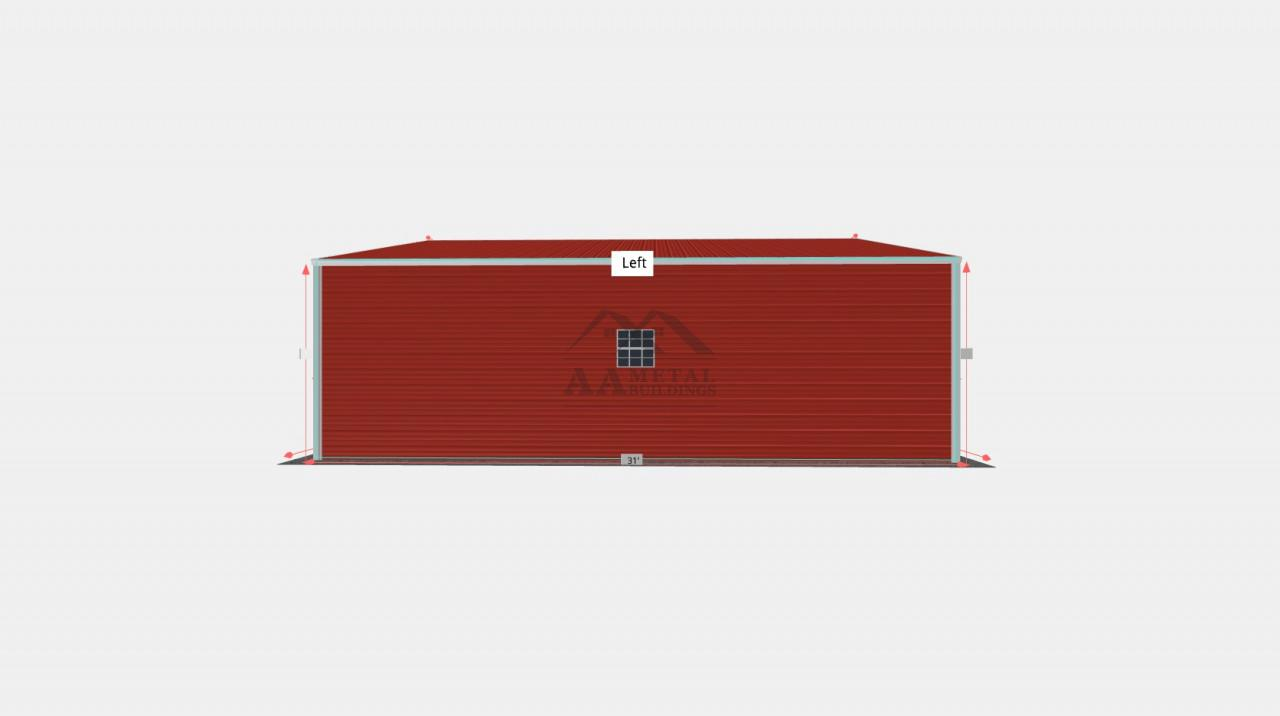 30x31' Vertical Roof Garage