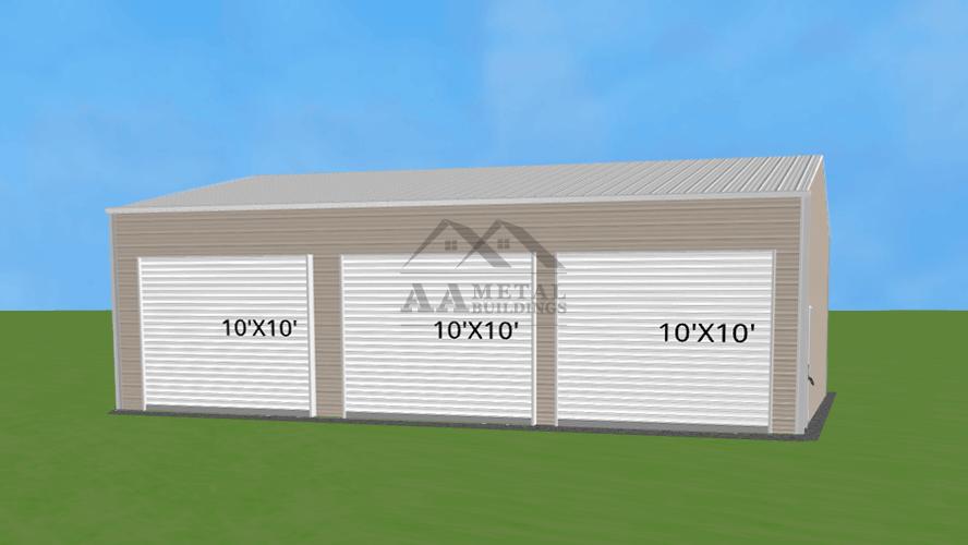 30x35 Three Car Garage