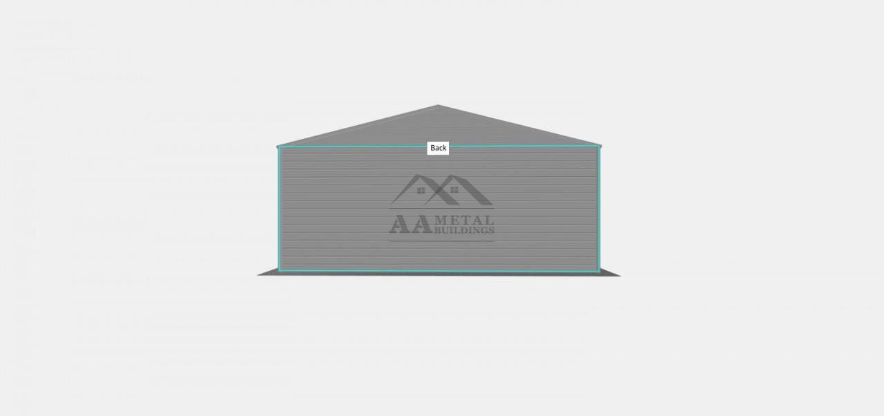 30x50 Vertical Roof Metal Garage