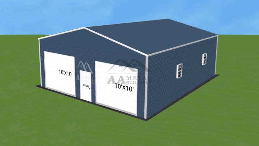 30x50 Enclosed Metal Building