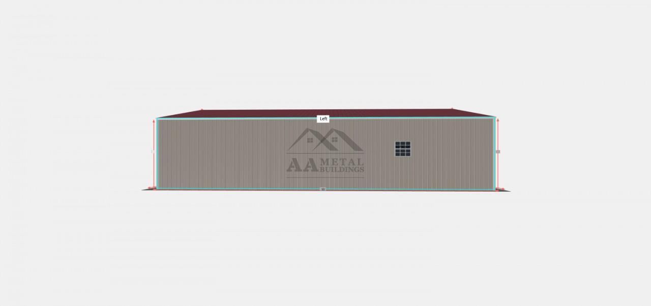 30x55 Side Entry Steel Building