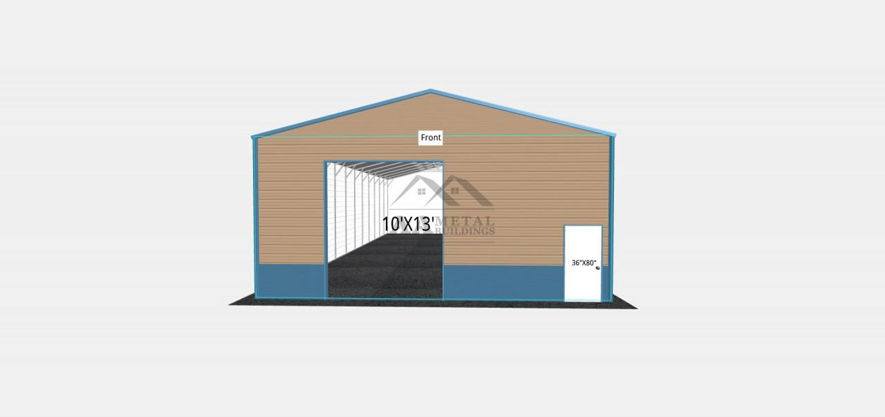 30x60 Commercial Metal Building