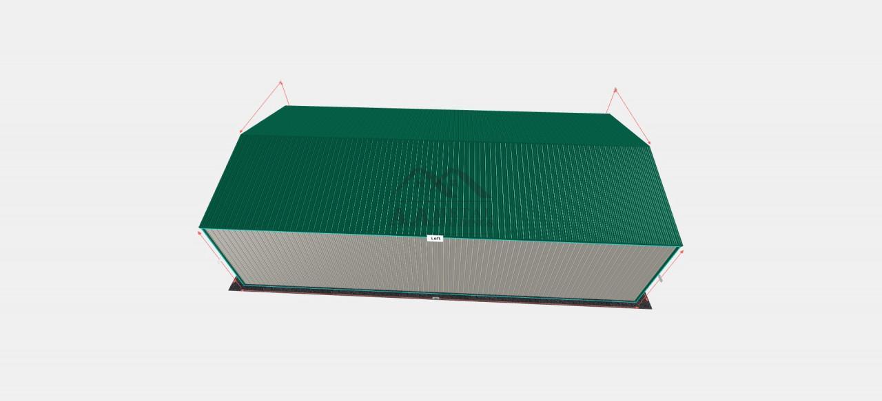 30x60 Vertical Roof Metal Carport