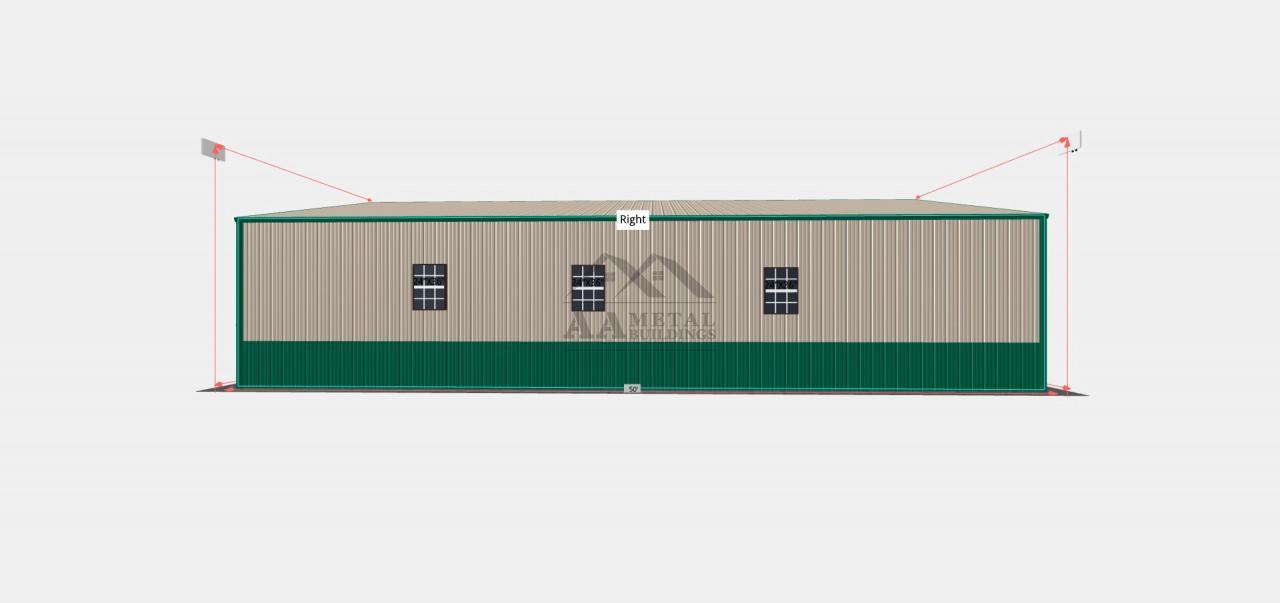32x50 Commercial Steel Building