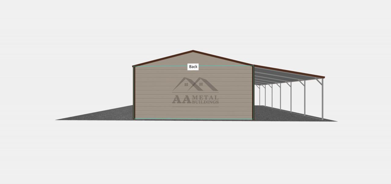 34x30 Vertical Roof Steel Garage