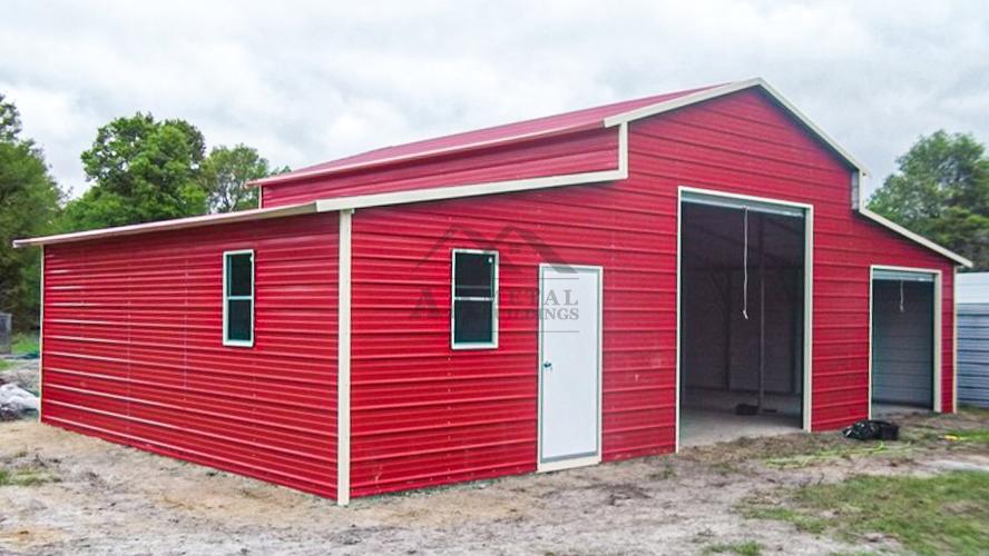 36x25 Vertical Roof Metal Barn