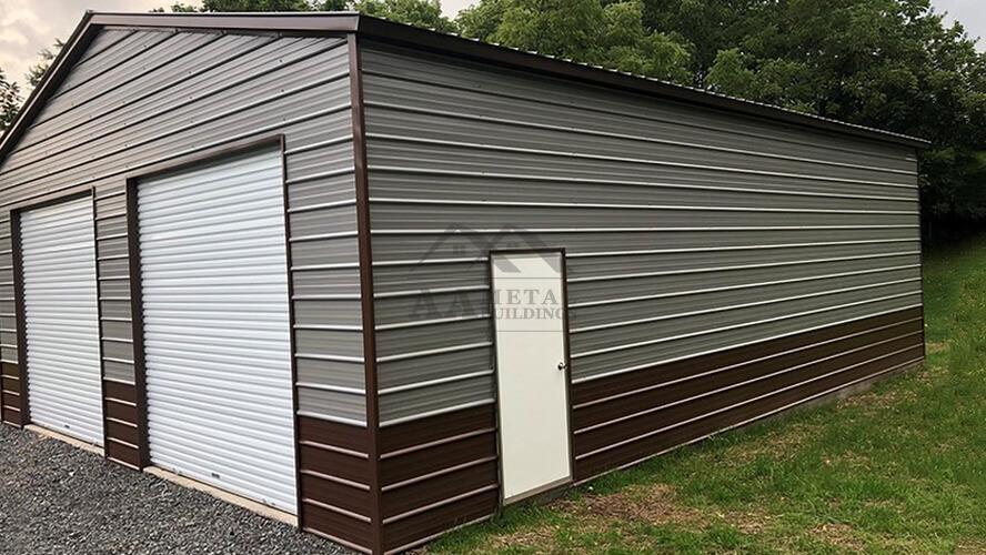 40x35 Vertical Roof Garage