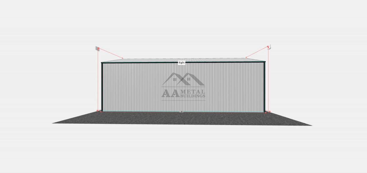 40x45 Metal Garage with Lean-to