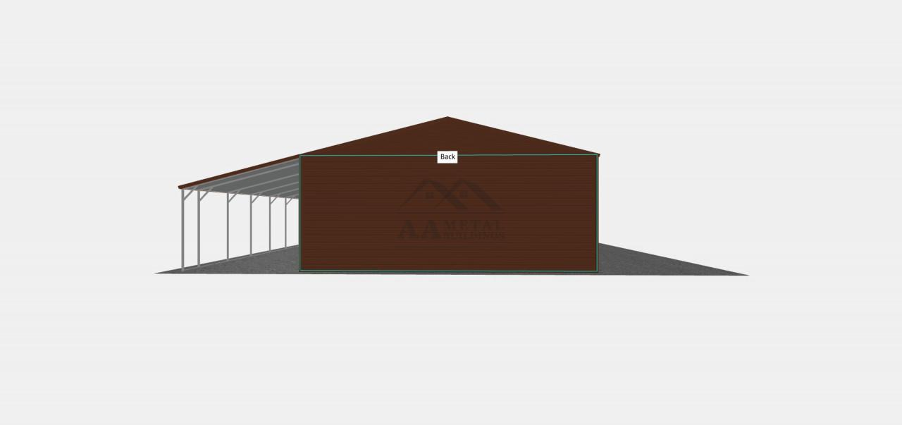 42x35 Double Garage With Lean-to