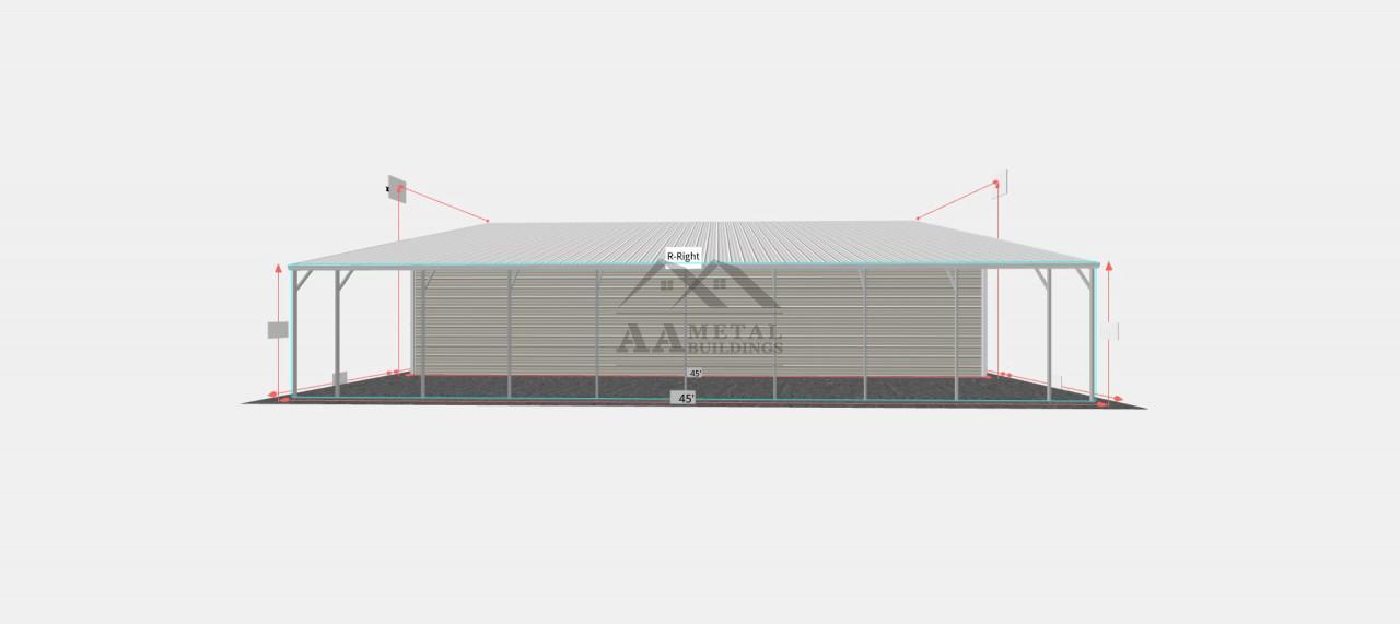 54x45 Custom Metal Building