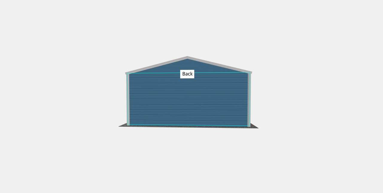18x20 Vertical Roof Utility Carport