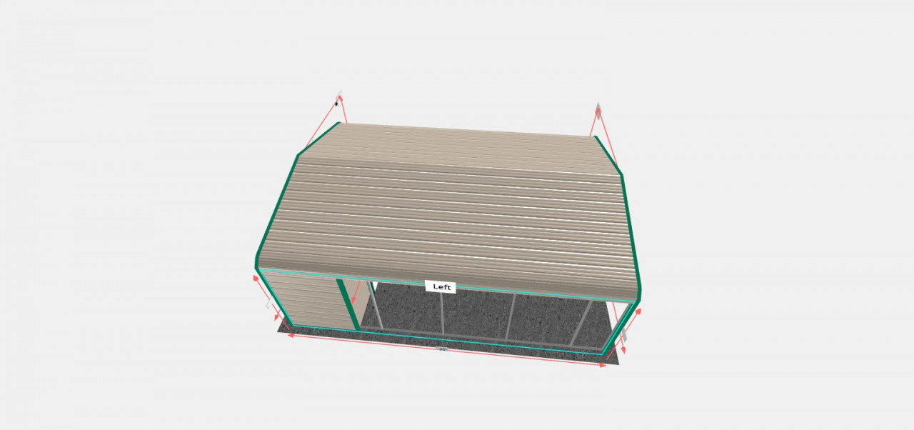 18x25 Regular Roof Utility Structure