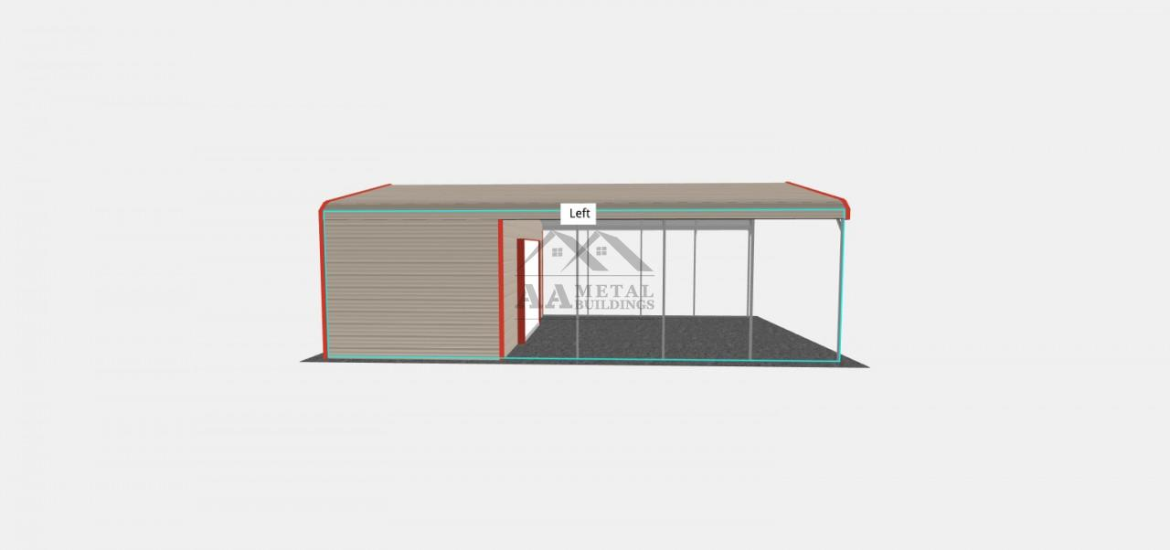18x30 Carport with Utility Shed