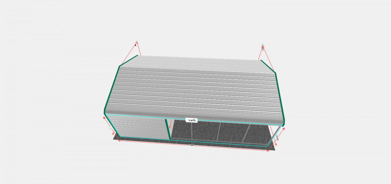 18x30 Utility Carport With Storage