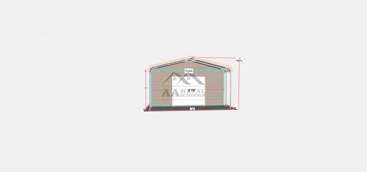 18x35 Regular Roof Utility Building