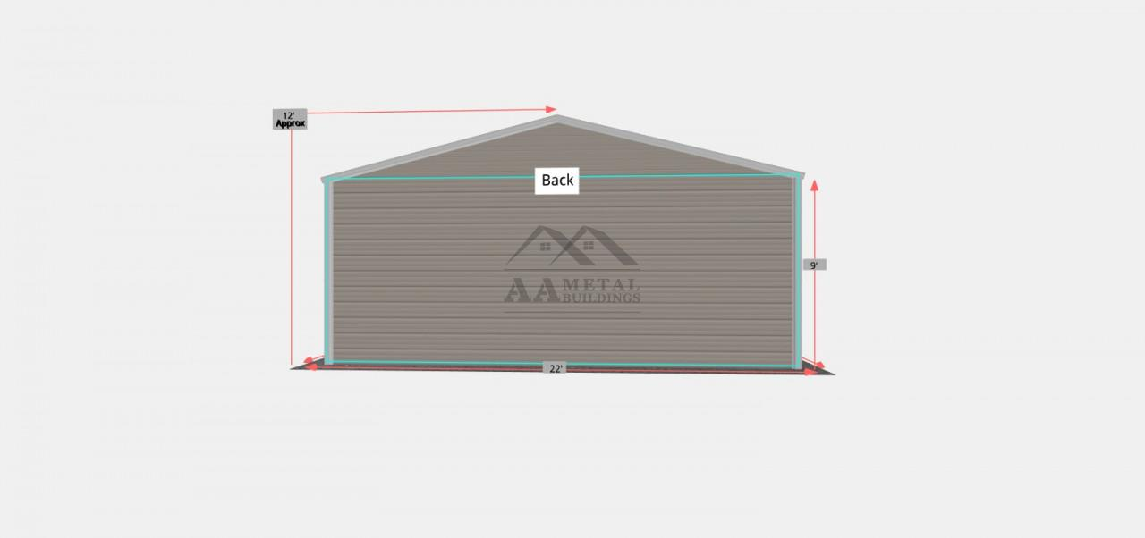 22x30 Carport with Utility Shed