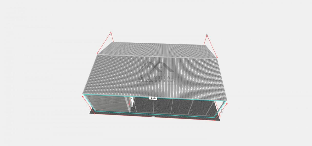 24x35 Vertical Roof Utility Building