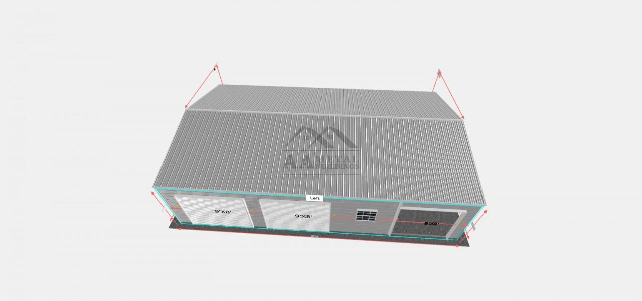 24x40 Enclosed Structure with Utility