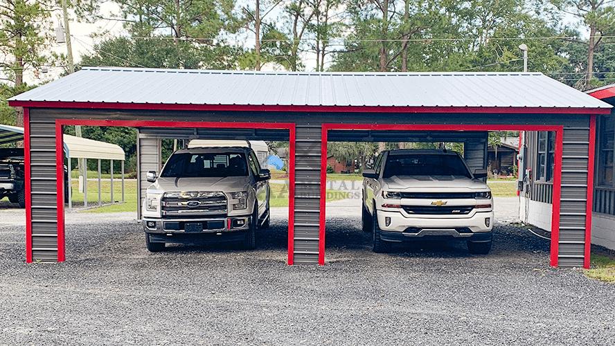 26x30 Vertical Side Entry Carport