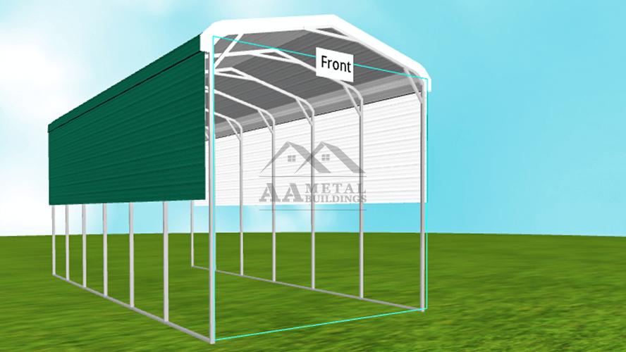 12x30 Regular Roof Steel Carport