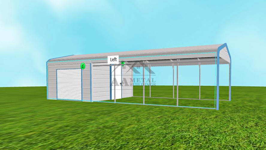 12x30 Regular Roof Utility Building