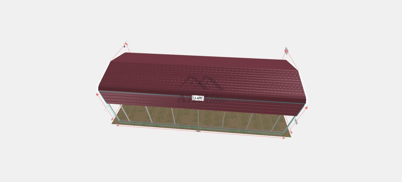 12x35 Regular Roof RV Shelter