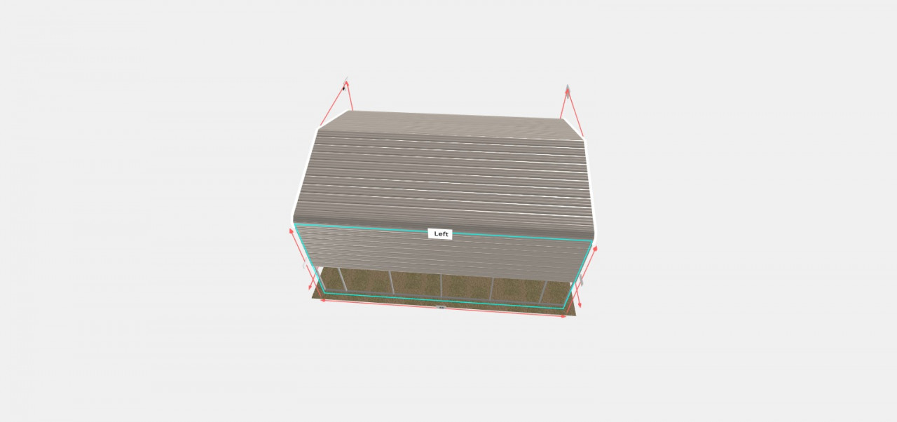 18x25 Regular Roof Style Carport