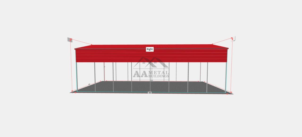 18x40 Steel RV Carport