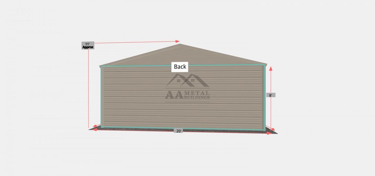 20x25 Residential Garage