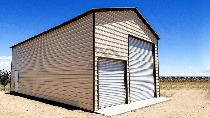 24x50 Enclosed Metal Garage Building