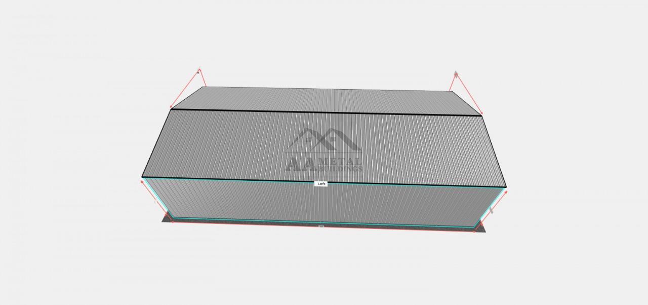 26x55 Vertical Roof Carport