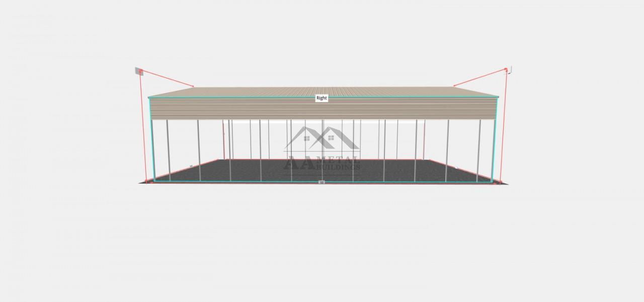30x55 Vertical Roof Style Carport
